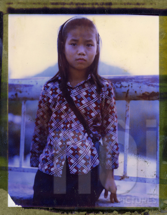 Polaroid 79's portrait of a little girl.