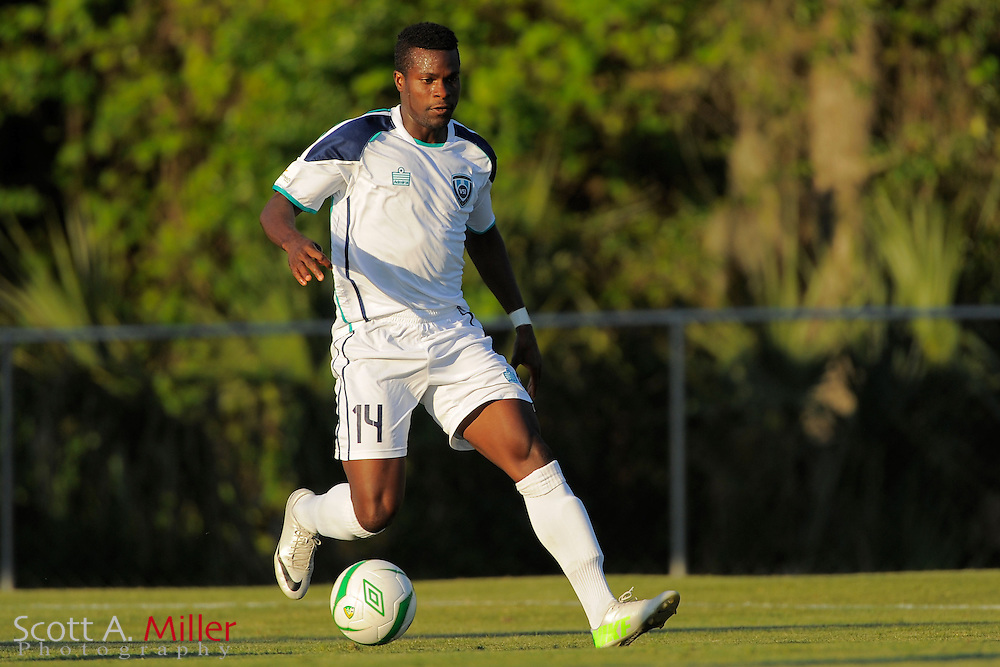 VSI Tampa Bay FC defender Richard Dixon (14) during the US Open Cup game against Orlando City at Seminole Soccer Complex in Sanford, Florida May 14, 2013. ..©2013 Scott A. Miller