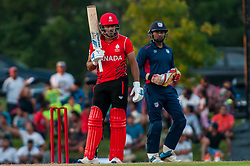 September 22, 2018 - Morrisville, North Carolina, US - Sept. 22, 2018 - Morrisville N.C., USA - Team Canada RIZWAN CHEEMA (99) waits to bat during the ICC World T20 America's ''A'' Qualifier cricket match between USA and Canada. Both teams played to a 140/8 tie with Canada winning the Super Over for the overall win. In addition to USA and Canada, the ICC World T20 America's ''A'' Qualifier also features Belize and Panama in the six-day tournament that ends Sept. 26. (Credit Image: © Timothy L. Hale/ZUMA Wire)