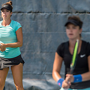 August 20, 2016, New Haven, Connecticut: <br /> Alexandra Facey and Kat Facey in action during a US Open National Playoffs match at the 2016 Connecticut Open at the Yale University Tennis Center on Saturday, August  20, 2016 in New Haven, Connecticut. <br /> (Photo by Billie Weiss/Connecticut Open)