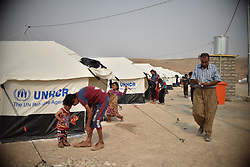 Refugges from Mosul area in the refugees camp of UNHCR in Zelican, North of Mosul, Kurdistan Region of Iraq on October 25, 2016. UNHCR is stepping up its preparations to receive those displaced by the fighting to retake Iraqís second city, Mosul. Photo by Mathieu Redoube/ABACAPRESS.COM