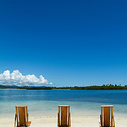 Yandup beach resort outer view. San Blas, Panama