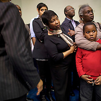 "SUMTER, SC - FEBRUARY 24:  Joe Bostick, 7, is embraced by his grandmother, Wilhelmenina Presley, while they wait in line to take their seats for a ""Breaking Down Barriers Town Hall"" with Democratic Presidential candidate, former Secretary of State Hillary Clinton at Morris College February 24, 2016 in Sumter, ahead of the South Carolina Democratic Presidential Primary on February 27.  Last Saturday, the South Carolina GOP Presidential Primary shattered records with 137,092 more votes cast than in any previous primary.  (Photo by Mark Makela/Getty Images)"
