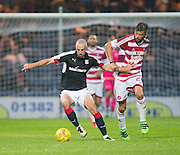 Dundee&rsquo;s James Vincent and Hamilton&rsquo;s Massimo Donati - Dundee v Hamilton Academical in the Ladbrokes Scottish Premiership at Dens Park<br /> <br />  - &copy; David Young - www.davidyoungphoto.co.uk - email: davidyoungphoto@gmail.com