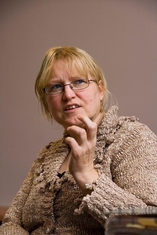 BRUSSELS - BELGIUM - 11 JANUARY 2008 --  Chief-nurse Maria VANSCHOENWINKEL, Universitair Ziekenhuis Brussel. Photo: Erik Luntang/