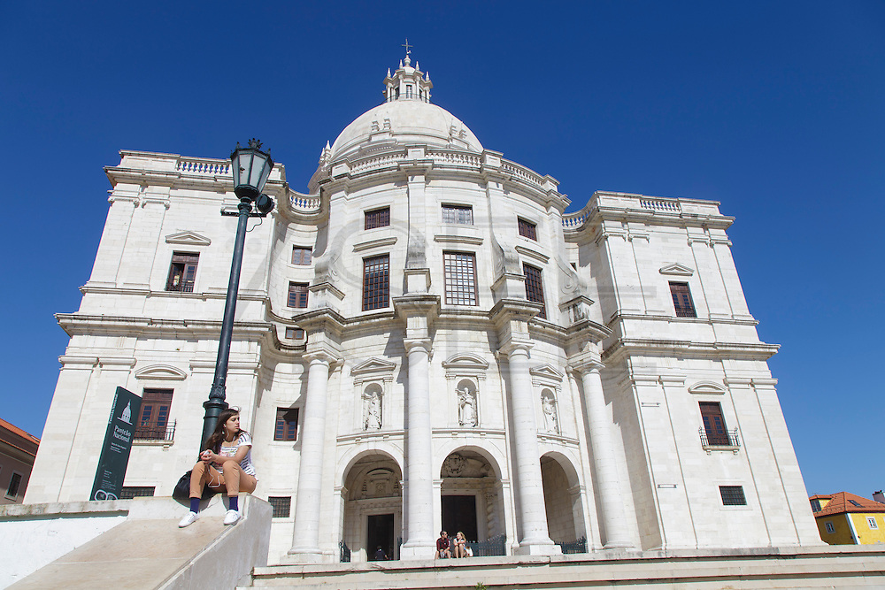 The National Pantheon also know as Santa Engrácia church in Lisbon. Here some heads-of-state are buried, as well as Fado greatest diva Amália Rodrigues.