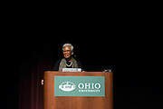 Dr. Nell Irvin spoke at the Blackburn Memorial Auditorium on January 26, 2015 as part of the Painter Kennedy Lecture series. Photo by Olivia Wallace