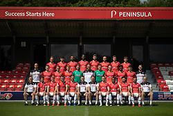 © Licensed to London News Pictures . 29/07/2019. Salford , UK . Team photo . Salford Football Club hold a pre-season photocall at the Peninsula Stadium , Moor Lane . Photo credit : Joel Goodman/LNP