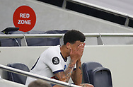 Dele Alli of Tottenham substituted during the Premier League match at the Tottenham Hotspur Stadium, London. Picture date: 23rd June 2020. Picture credit should read: David Klein/Sportimage