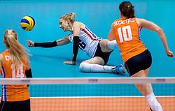 18-05-2016 JAP: OKT Nederland - Dominicaanse Republiek, Tokio<br /> Nederland is weer een stap dichterbij kwalificatie voor de Olympische Spelen. Dit dankzij een 3-0 overwinning op de Dominicaanse Republiek / Debby Stam-Pilon #16