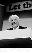 Sir James Goldsmith speaking during the Referendum Party Conference. Brighton Conference Centre. 21/10/96<br />