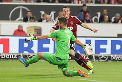 25.10.2013, Mercedes Benz Arena, Stuttgart, GEr, 1. FBL, VfB Stuttgart vs 1.FC Nuernberg, Fussball, 1.Bundesliga, 25.10.2013, 10. Runde, im Bild Links Sven Ulreich ( VfB Stuttgart ) Rechts Josip Drmic ( 1 FC Nuernberg ) beim Torschuss zum 1:1 ausgleich // during the German Bundesliga 10th round match between VfB Stuttgart and 1. FC Nuernberg at the Mercedes Benz Arena in Stuttgart, Germany on 2013/10/26. EXPA Pictures © 2013, PhotoCredit: EXPA/ Eibner-Pressefoto/ Langer<br /> <br /> *****ATTENTION - OUT of GER*****