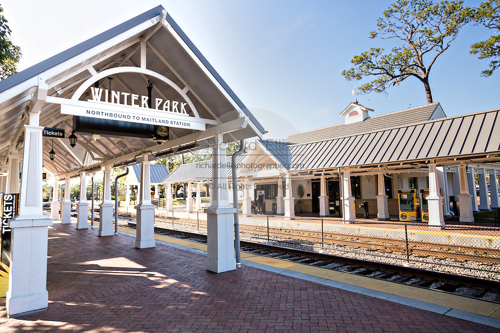 The train station in historic downtown Winter Park, Florida.