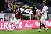 Burnley defender Michael Keane (5)  clears the ball during the Premier League match between Burnley and Watford at Turf Moor, Burnley, England on 26 September 2016. Photo by Simon Davies.
