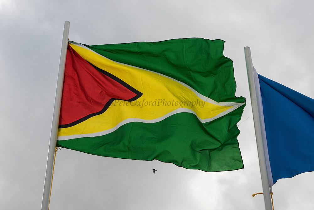 Guyana Flag<br /> Georgetown<br /> GUYANA<br /> South America