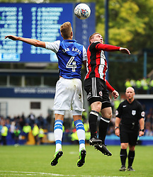 Joost van Aken of Sheffield Wednesday challenges John Fleck of Sheffield United - Mandatory by-line:  Matt McNulty/JMP - 24/09/2017 - FOOTBALL - Hillsborough - Sheffield, England - Sheffield Wednesday v Sheffield United - Sky Bet Championship