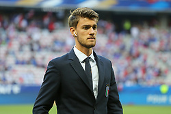 June 1, 2018 - Paris, Ile-de-France, France - Daniele Rugani (Italy) before the friendly football match between France and Italy at Allianz Riviera stadium on June 01, 2018 in Nice, France..France won 3-1 over Italy. (Credit Image: © Massimiliano Ferraro/NurPhoto via ZUMA Press)