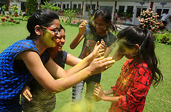 May 28, 2017 - Uttar Pradesh, India - CBSE board students celebrate their success in 12th standard after declaring result. (Credit Image: © Prabhat Kumar Verma/Pacific Press via ZUMA Wire)