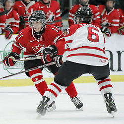 COBOURG, - Dec 16, 2015 -  Game #9 - Canada East vs Canada West at the 2015 World Junior A Challenge at the Cobourg Community Centre, ON. Liam Finlay #11 of Team Canada West during the second period<br /> (Photo: Amy Deroche / OJHL Images)