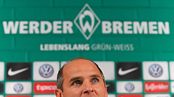 26.10.2014, Weserstadion, Bremen, GER, 1. FBL, Werder Bremen, Pressekonferenz, im Bild Viktor Skripnik (U 23- und Nachwuchs-Cheftrainer SV Werder Bremen) bei dessen Vorstellung als Nachfolger von Robin Dutt (ehemaliger Cheftrainer SV Werder Bremen) // during a Pressconference of German Bundesliga Club SV Werder Bremen at the Weserstadion in Bremen, Germany on 2014/10/26. EXPA Pictures © 2014, PhotoCredit: EXPA/ Andreas Gumz<br /> <br /> *****ATTENTION - OUT of GER*****