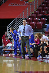 01 January 2009: Bluejays coach Jim Flanery watches the action. The game between the Creighton Bluejays and the Illinois State Redbirds ended with the Redbirds on top by a score of 63-43 on Doug Collins Court inside Redbird Arena on the campus of Illinois State University, Normal IL.