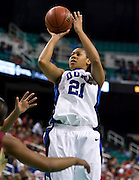Duke during the 2008 ACC Women's Basketball Tournament held at the Greensboro Coliseum in Greensboro, North Carolina.  (Photo by Mark W. Sutton)