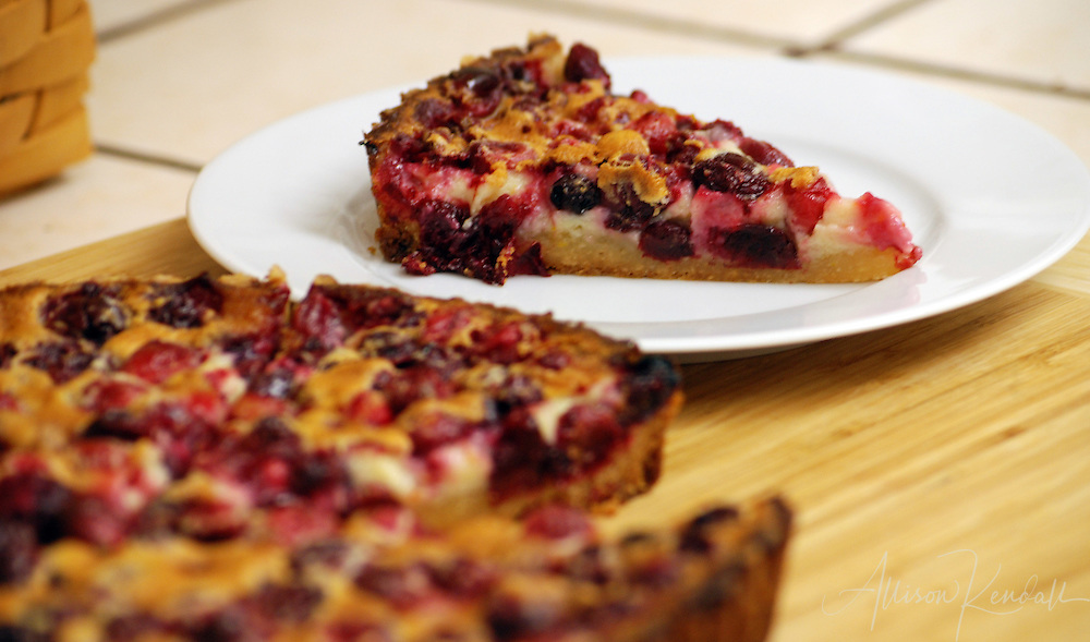 Plump and juicy cranberries fill a delicious homemade tart