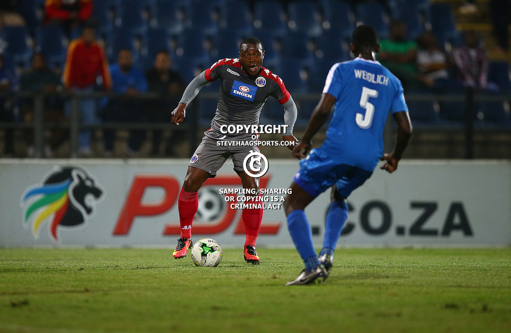 during the 2016 Premier Soccer League match between Maritzburg Utd and SuperSport United held at the Harry Gwala Stadium in Pietermaritzburg, South Africa on the 21st September 2016<br /> <br /> Photo by:   Steve Haag / Real Time Images