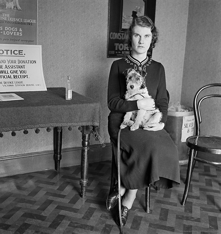 In the Waiting Room at the Dog Hospital, Croydon, London, 1935