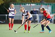 HUIZEN/NAARDEN - 2017 Hoofdklasse dames<br /> Huizer HC  vs Nijmegen 3-1<br /> Foto: Fleur de Waard <br /> WORLDSPORTPICS COPYRIGHT FRANK UIJLENBROEK