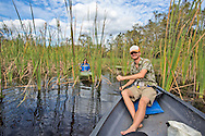 Guide with Everglades Adventure Tours, kayaking along the Turner River in the Big Cypress National Preserve, in Florida.