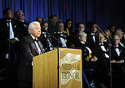 Nasser J. Kazeminy, Chairman, National Ethnic Coalition of Organizations, addresses the 2015 Ellis Island Medal of Honor awards ceremony on Ellis Island, Saturday, May 9, 2015. NECO honored 101 recipients, including journalist Meredith Vieira, New York Yankees legend Mariano Rivera, Washington, D.C., Police Chief Cathy L. Lanier and 11 members of the U.S. military.  NECO's mission is to honor and preserve the diversity of the American people and to foster tolerance, respect and understanding among religious and ethnic groups. (Photo by Diane Bondareff/Invision for NECO/AP Images)