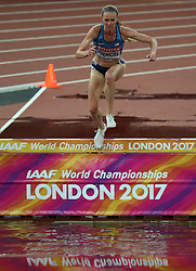 London, August 09 2017 . Courtney Frerichs, USA, in the women's 3,000m steeplechase heats on day six of the IAAF London 2017 world Championships at the London Stadium. © Paul Davey.