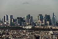 France. paris. 7th district.  La defense District and Paris Cityscape./Paris vue d'en haut