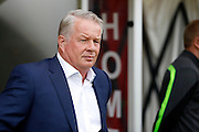 Crawley Town Manager Dermot Drummy takes charge for the first time before the Sky Bet League 2 match between Crawley Town and Barnet at the Checkatrade.com Stadium, Crawley, England on 7 May 2016. Photo by Andy Walter.
