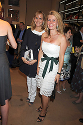 Left to right, the HON.SOPHIE MONTGOMERY and LADY FORTE at a party to celebrate the publication of Sashenka by Simon Sebag-Montefiore held at Asprey, Bond Street, London on 1st July 2008.<br />