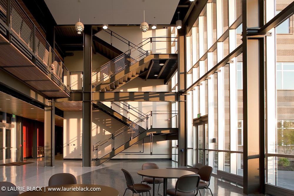 Contemporary college interior commons area