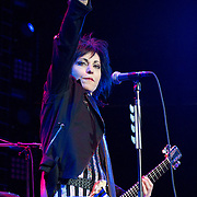 Joan Jett & The Blackhearts open for The Who on their 50th Anniversary tour at American Airlines Center on Saturday Night.  (Special to the Star-Telegram/Rachel Parker)