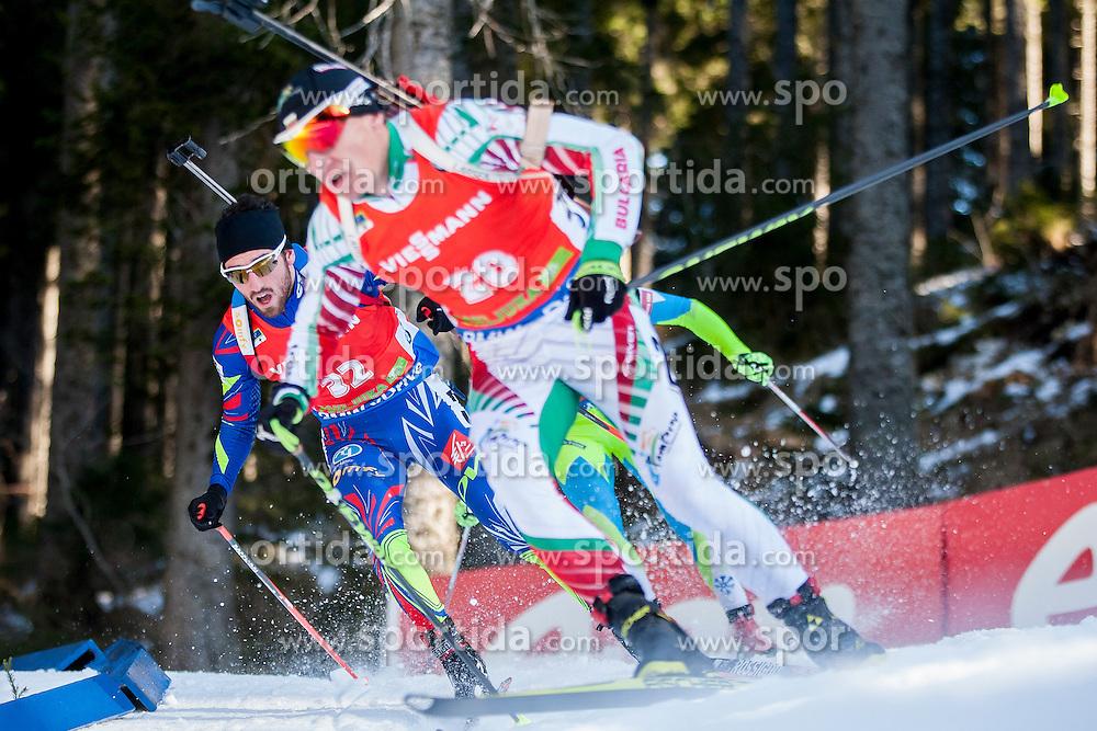 Jean Guillaume Beatrix (FRA) competes during Men 12,5 km Pursuit at day 3 of IBU Biathlon World Cup 2015/16 Pokljuka, on December 19, 2015 in Rudno polje, Pokljuka, Slovenia. Photo by Urban Urbanc / Sportida