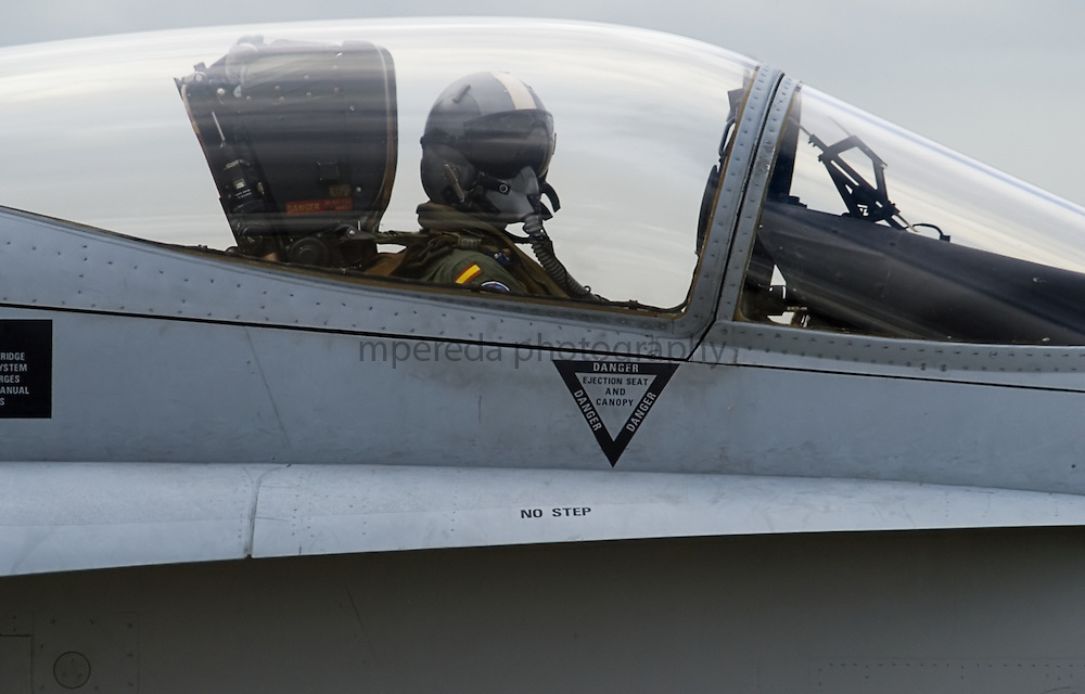 Spanish Air Forces pilot in a F18 Hornet