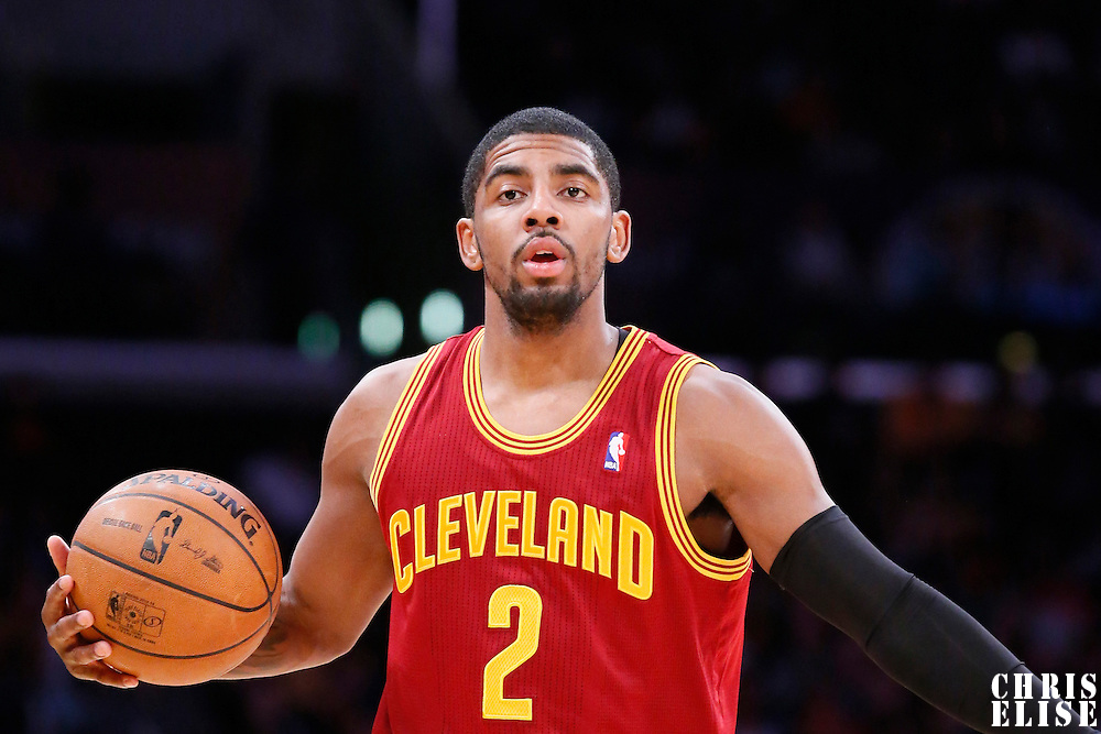 14 January 2014: Cleveland Cavaliers point guard Kyrie Irving (2) is seen during the Cleveland Cavaliers 120-118 victory over the Los Angeles Lakers at the Staples Center, Los Angeles, California, USA.
