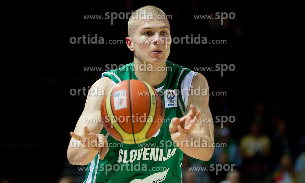 Edo Muric of Slovenia during basketball match between National teams of Ukraine and Slovenia in Group D of Preliminary Round of Eurobasket Lithuania 2011, on September 1, 2011, in Arena Svyturio, Klaipeda, Lithuania. Slovenia defeated Ukraine 68 - 64. (Photo by Vid Ponikvar / Sportida)