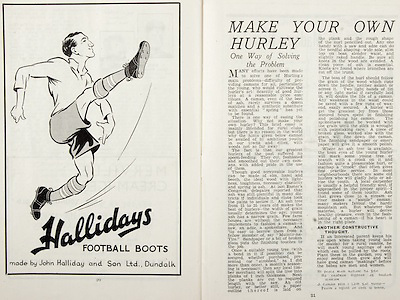 All Ireland Senior Hurling Championship Final,.Brochures,.01.09.1946, 09.01.1946, 1st September 1946, .Cork 7-5, Kilkenny 3-8, .Minor Dublin v Tipperary.Senior Cork v Kilkenny.Croke Park, ..Advertisements, Hallidays Football Boots, ..Articles, Make Your Own Hurley; One Way of Solving the Problem, .
