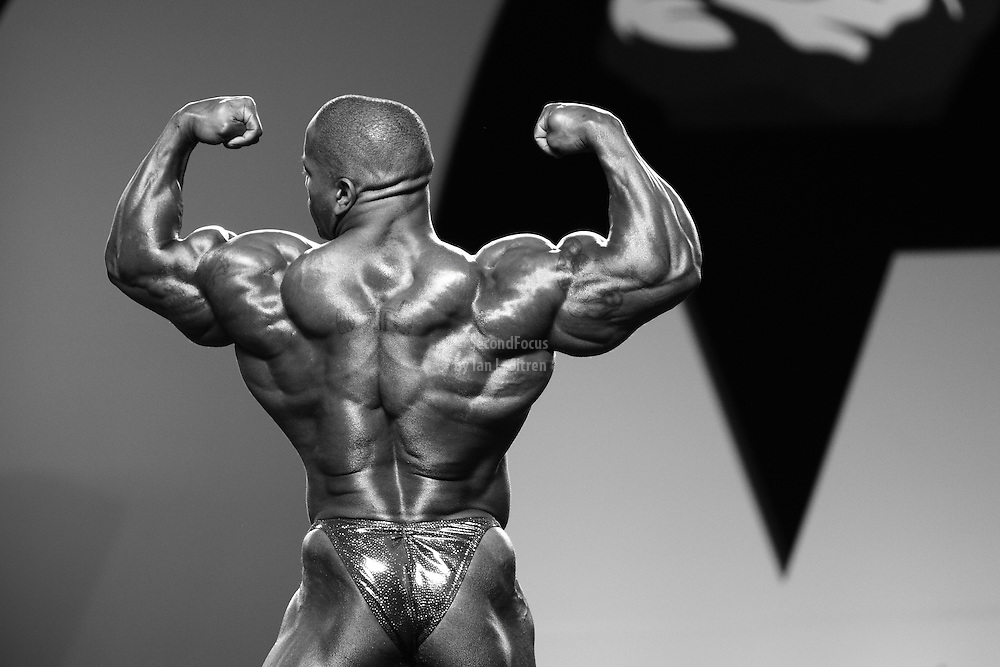 Johnnie Jackson competing at the 2010 Mr. Olympia finals in Las Vegas.