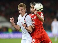 Fussball International  WM Qualifikation 2014   12.10.2012 Schweiz - Norwegen Markus Henriksen (li, Norwegen) gegen Ricardo RODRIGUEZ (Schweiz)