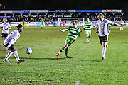 Forest Green Rovers Christian Doidge(9) shoots at goal scores a goal 1-5 during the Vanarama National League match between Bromley FC and Forest Green Rovers at Hayes Lane, Bromley, United Kingdom on 7 January 2017. Photo by Shane Healey.