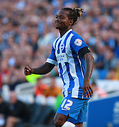 Brighton defender full back Gaetan Bong during the Sky Bet Championship match between Brighton and Hove Albion and Hull City at the American Express Community Stadium, Brighton and Hove, England on 12 September 2015. Photo by Bennett Dean.