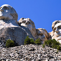 Mount Rushmore Near Keystone, South Dakota, in the Black Hills<br />