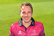 Head shot of Josh Davey in the Royal London One-Day Cup kit during the 2019 media day at Somerset County Cricket Club at the Cooper Associates County Ground, Taunton, United Kingdom on 2 April 2019