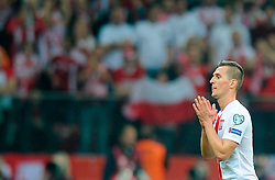 11.10.2014, National Stadium, Warsaw, POL, UEFA Euro Qualifikation, Polen vs Deutschland, Gruppe D, im Bild ARKADIUSZ MILIK // during the UEFA EURO 2016 Qualifier group D match between Poland and Germany at the National Stadium in Warsaw, Poland on 2014/10/11. EXPA Pictures © 2014, PhotoCredit: EXPA/ Newspix/ Norbert Barczyk<br /> <br /> *****ATTENTION - for AUT, SLO, CRO, SRB, BIH, MAZ, TUR, SUI, SWE only*****